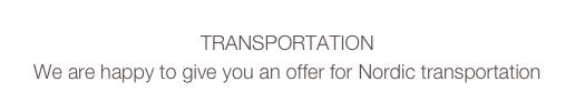TRANSPORTATION